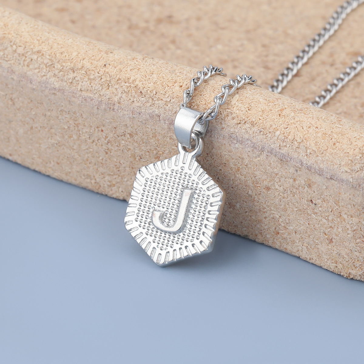 fashion simple alloy letter J pendant two-piece necklace NHJE275617
