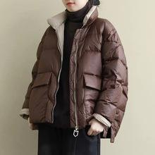 羽絨服2020年新款女小個子短款顯瘦韓版寬松白鴨絨小款羽絨服加厚