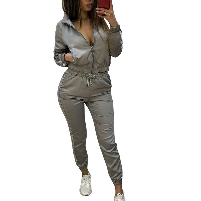 new splicing sports and leisure suit two-piece suit NSYF865