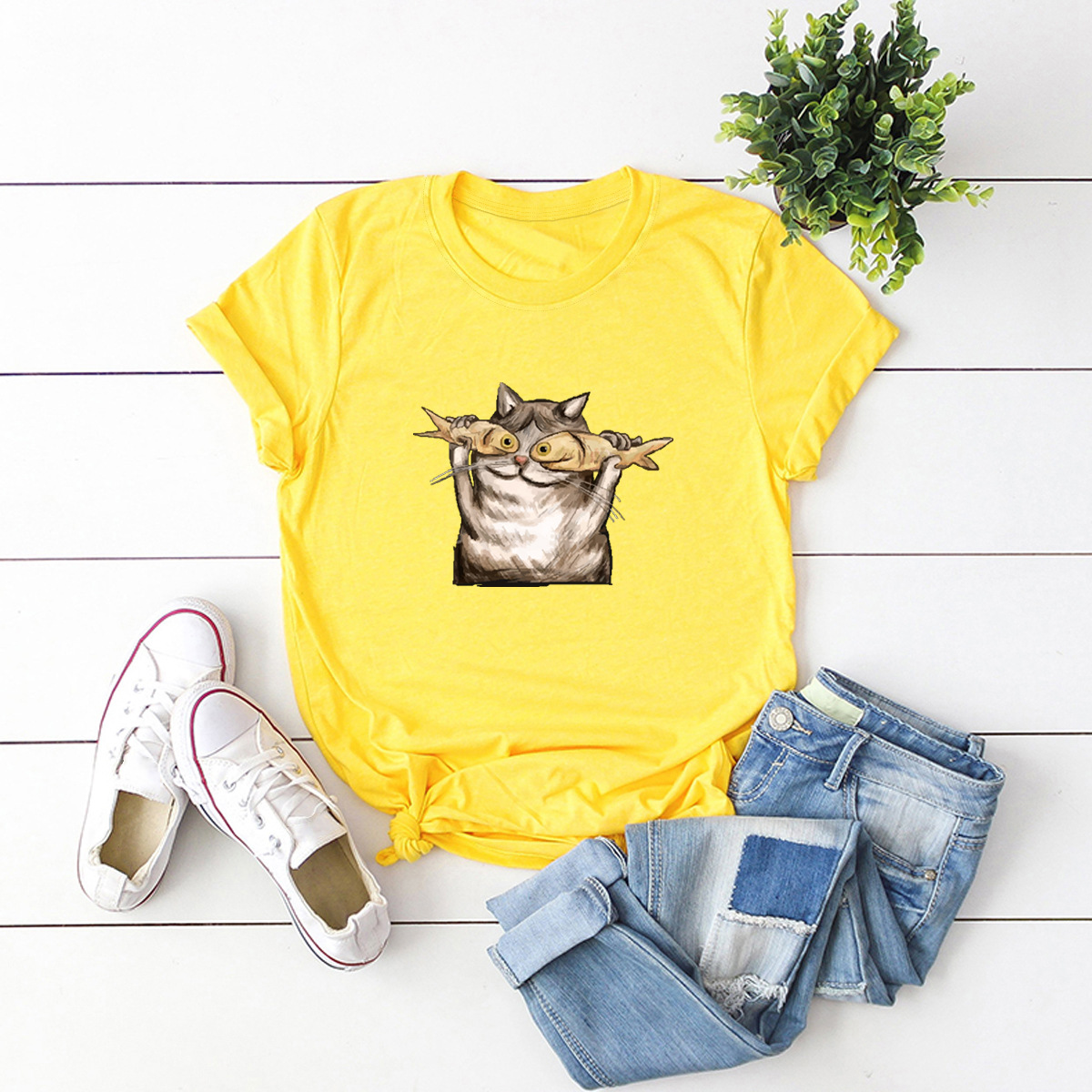 comfortable casual cotton short-sleeved women's T-shirt NSSN1661