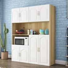 欧式餐边柜现代简约厨房柜美式橱柜储物柜餐厅微波炉碗柜茶水柜子