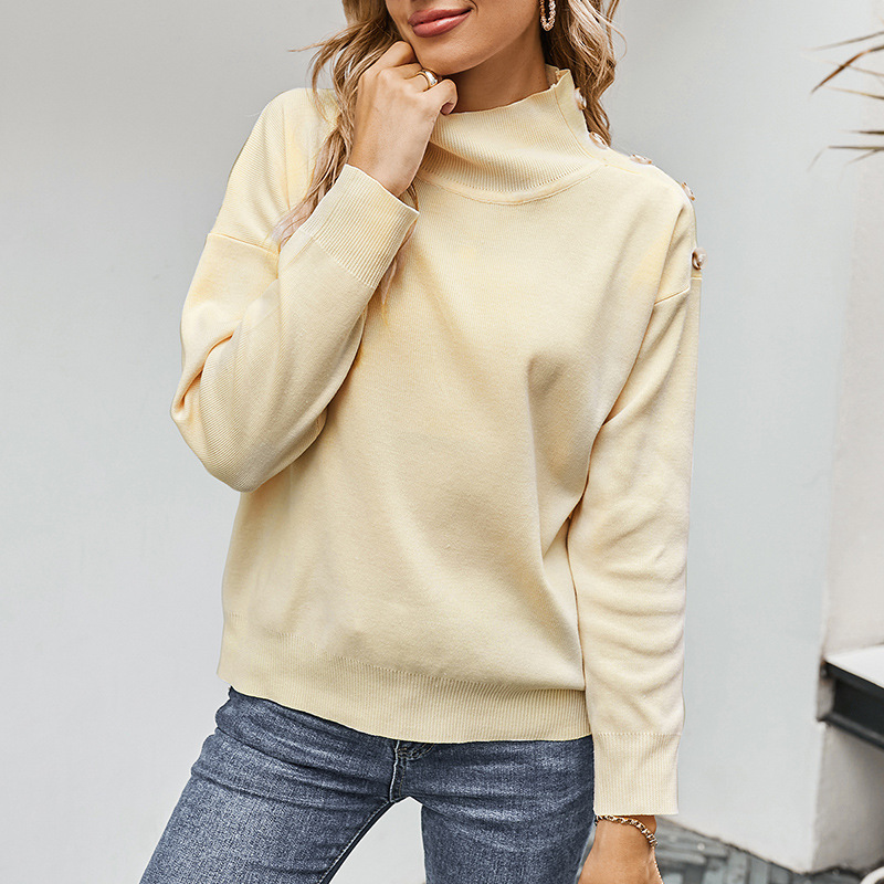 womens autumn and winter pullover turtleneck sweater NHKA268972
