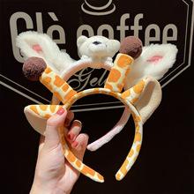 韩版网红发箍可爱兔耳朵成人发饰洗脸压发头箍外戴头饰发箍发卡