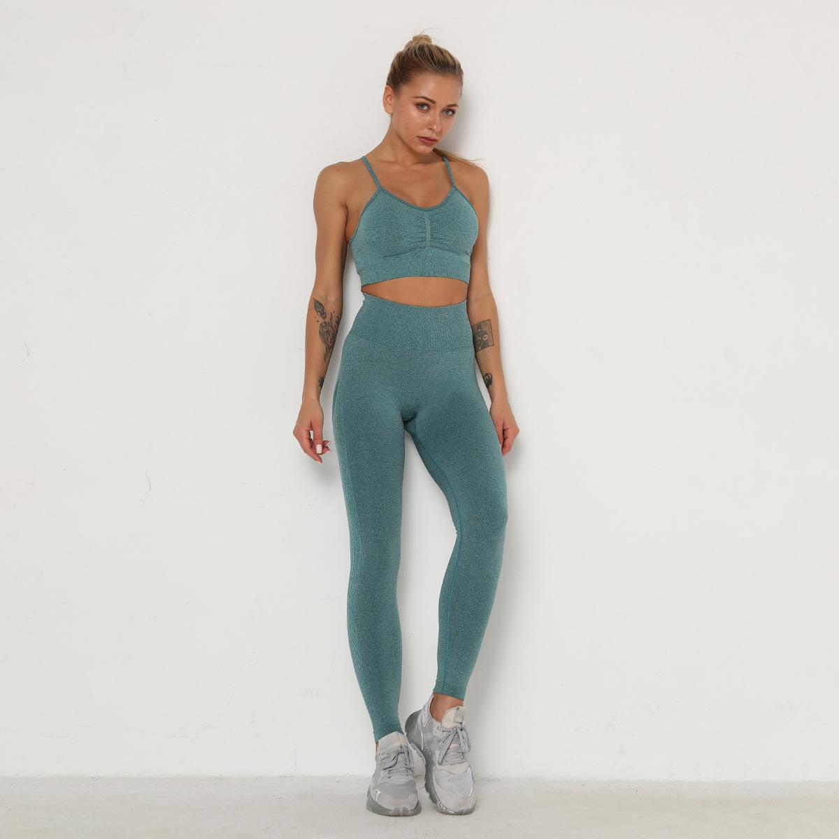 seamless knitted moisture wicking yoga pants  NSLX8993
