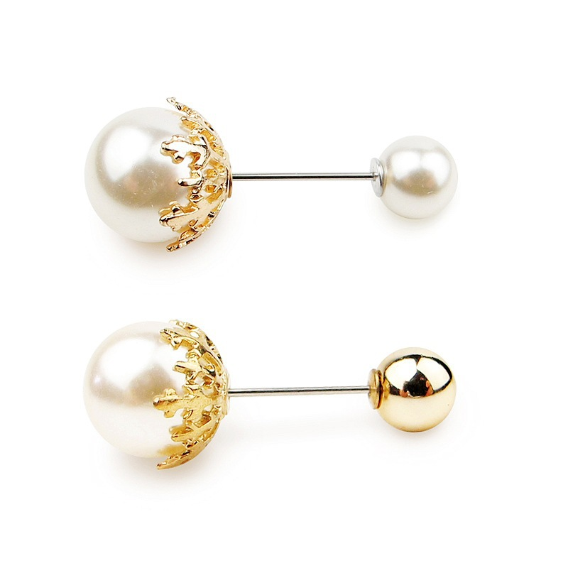 Fashion New Quality Zircon Double Head Pearl Brooch Wholesale NHJJ200388