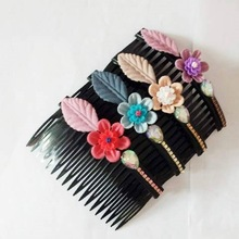 發夾韓國成人兒童發梳插梳女士水晶頂夾一字夾劉海發卡頭飾品
