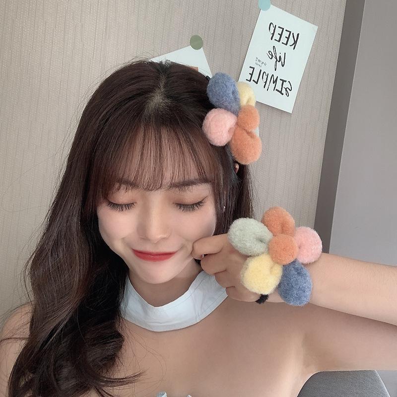Korea new  flower hair ball hair rope  NHCQ262389