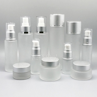 Cosmetic Packaging Material Cosmetic Bottle Lotion Bottle Glass Cosmetic Sub-bottling Lotion Press Bottle 50ml