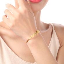S925纯银开口字母手镯电镀黄金时尚欧美珠宝首饰银饰 厂家批发