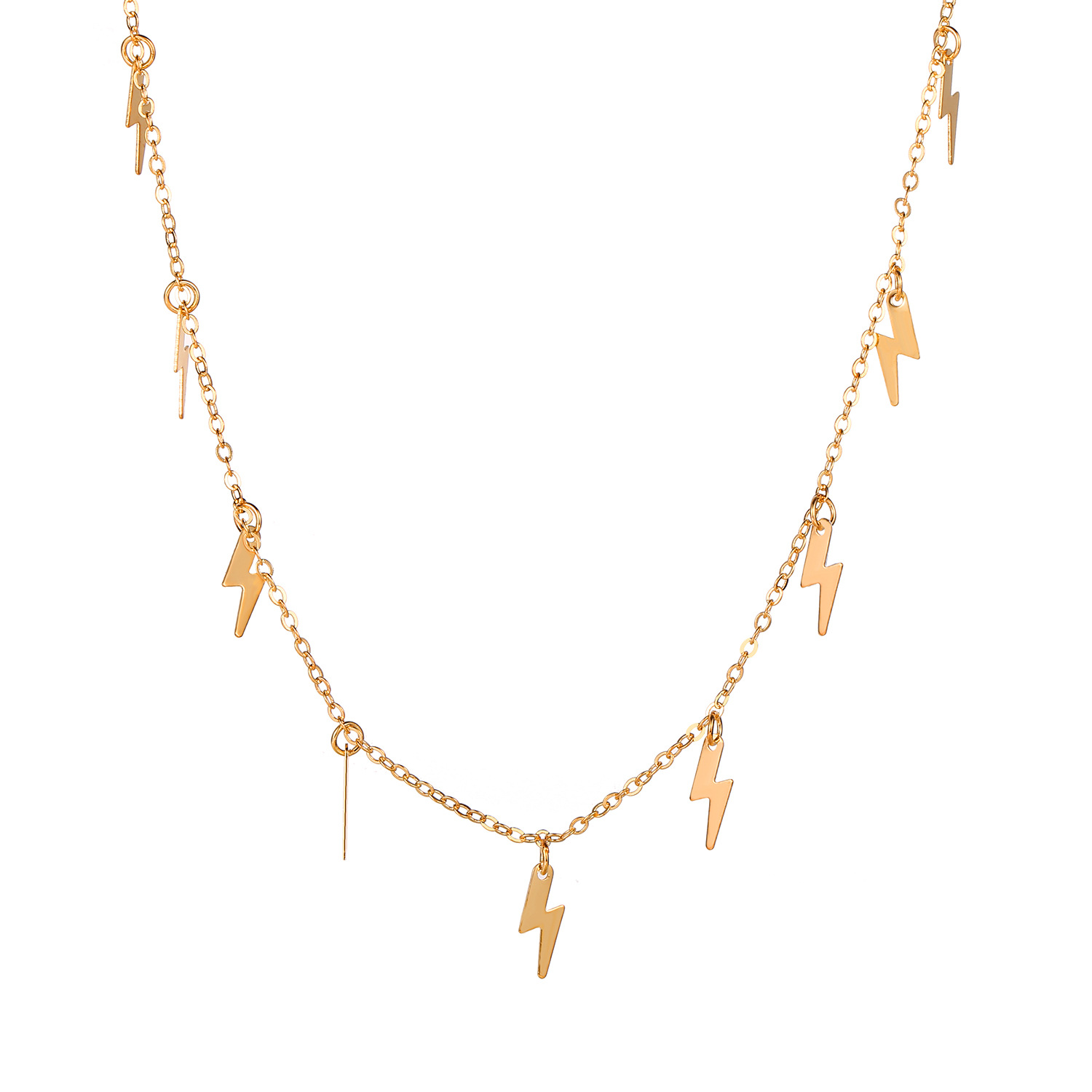 New fashion Lightning Pendant Alloy Retro Metal necklace Clavicle Chain nihaojewelry NHPJ238855