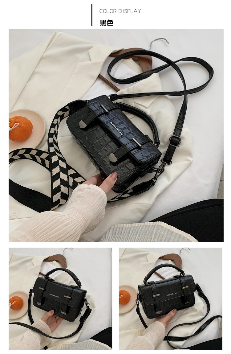 new fashion Korean crossbody oneshoulder allmatch womens small square bag NHJZ263294