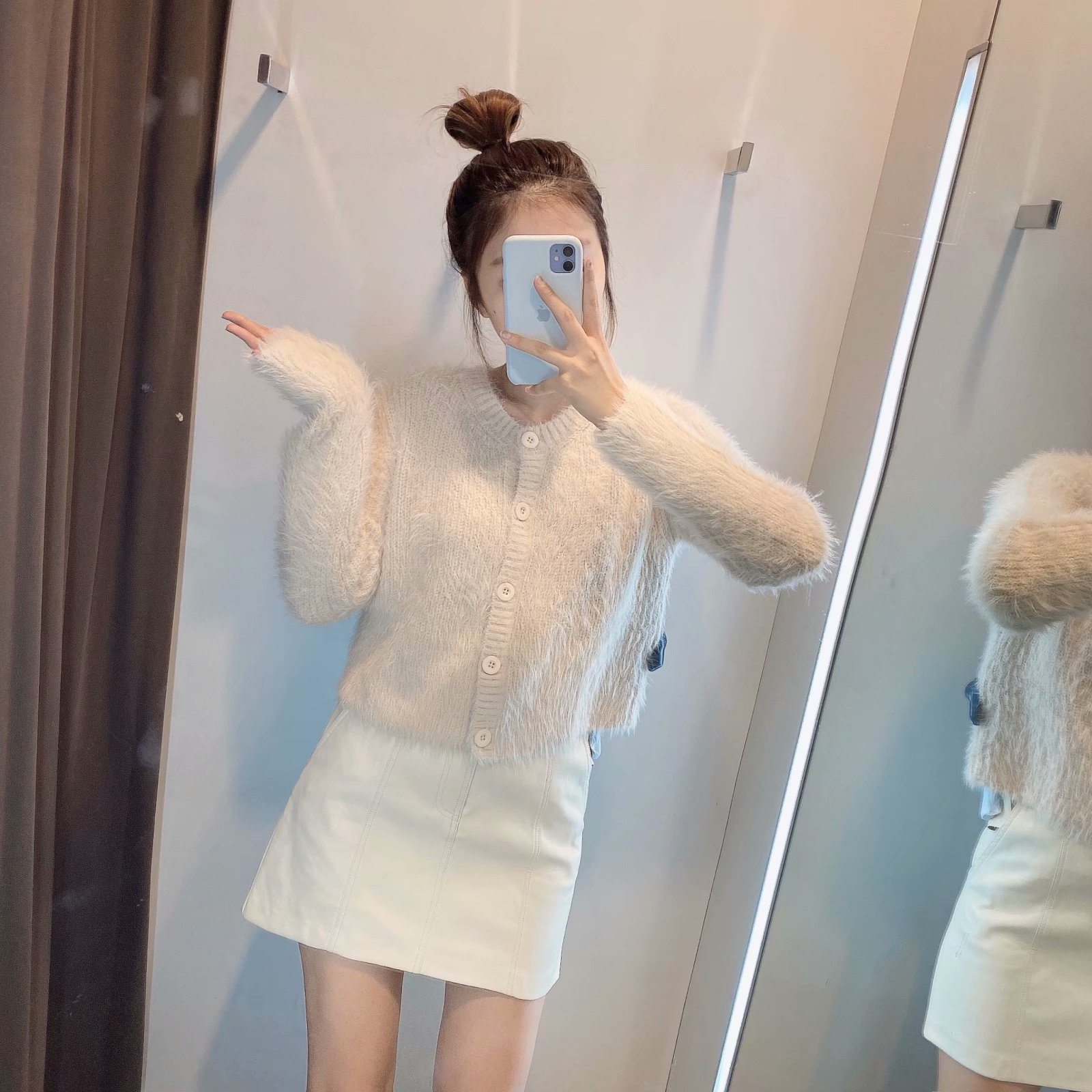 autumn buttoned women's knitted cardigan jacket  NSAM2301