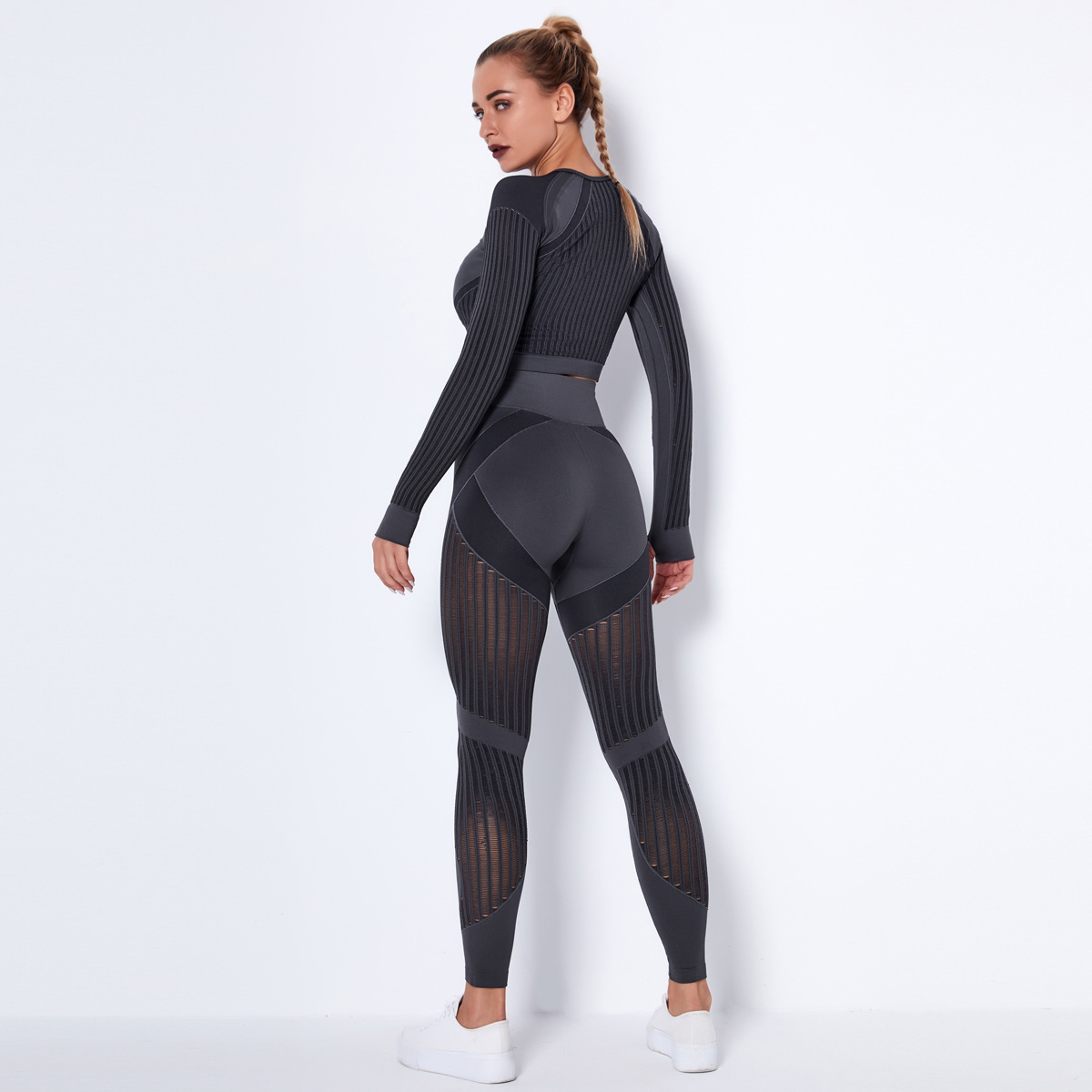 seamless knitted quick-drying sports yoga suits  NSLX8983