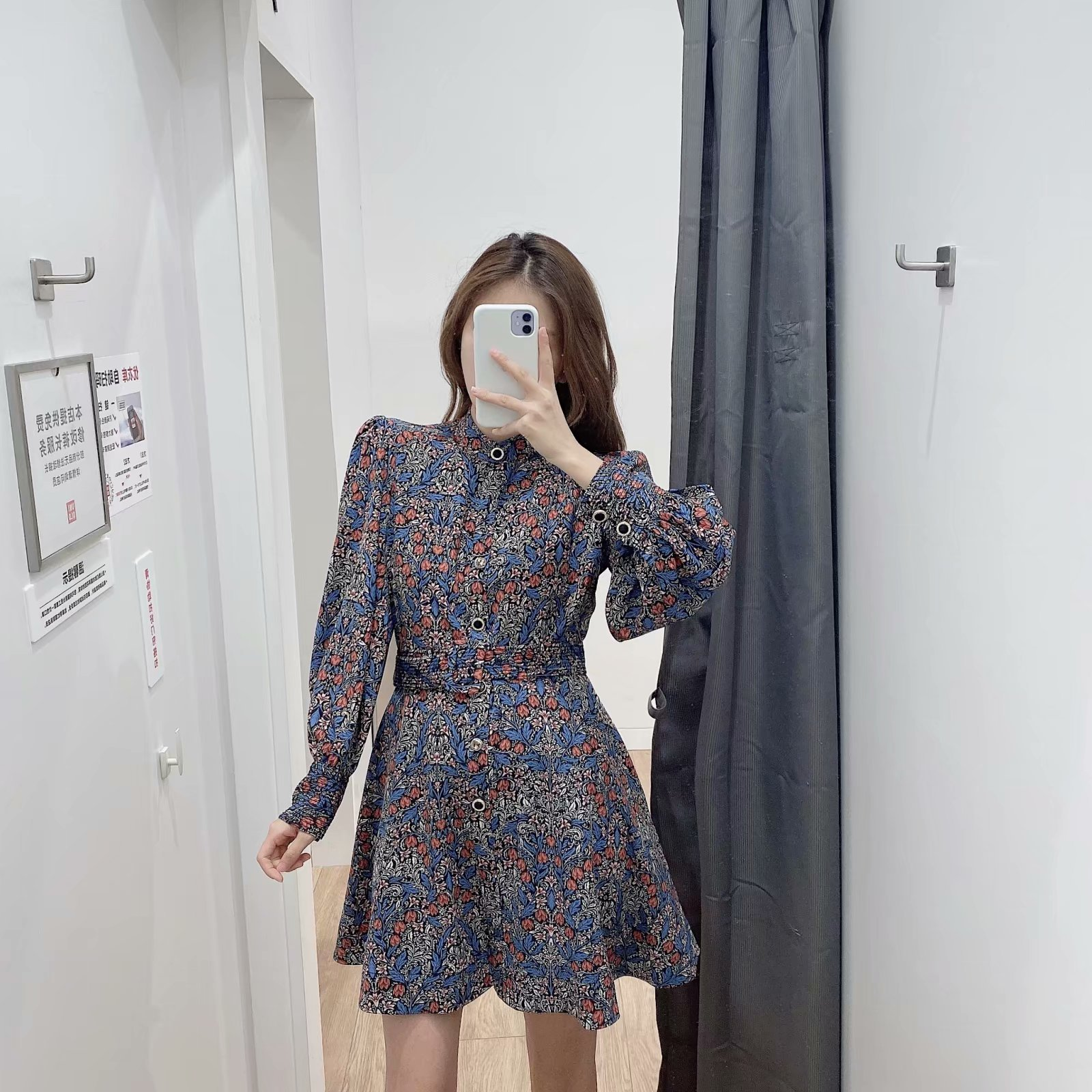 Fashion Spring Print Mini Long Sleeve Dress Wholesale NHAM198458