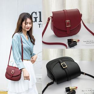 Female bag saddle bag simple Korean version 2021 fashion trend single shoulder bag messenger lady small bag mobile phone coin purse