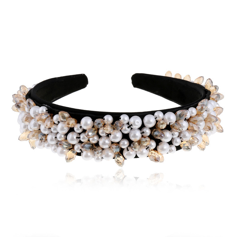 Pearl Hair Band Headdress Hair Clip Korean Simple Headband Adult Wide Edge Hair Accessories proveedores de china suppliers china NHVA202711