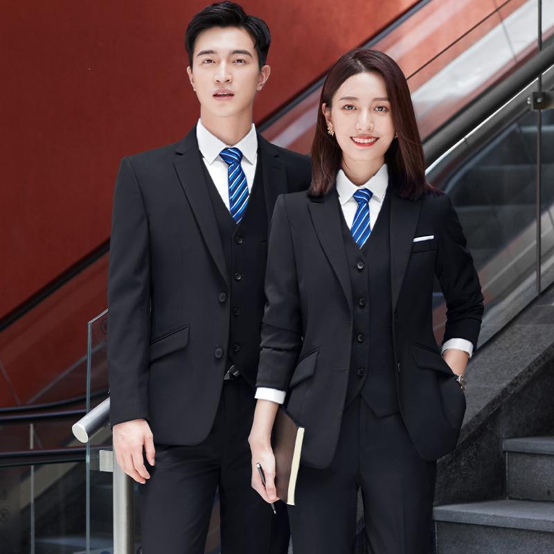 男女同款高端职业装售楼部西装套装女银行制服酒店工作服上班正装