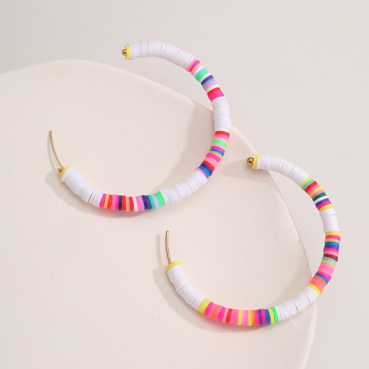 fashion hot simple and colorful earrings retro ethnic soft pottery earrings wholesale NHXR249899