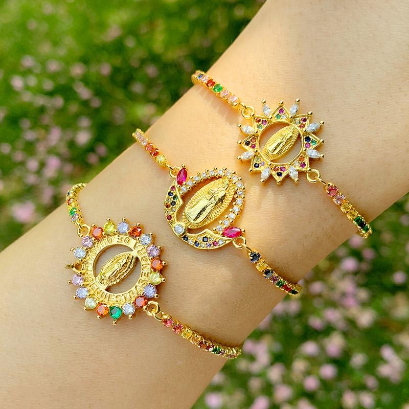 yiwu bracelet nihaojewelrymulticolor jewelry diamond mary bracelet wholesale NHAS213494