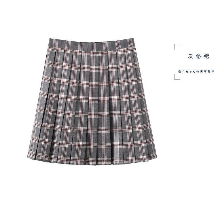 【现货】正统JK制服裙 日本女生高腰格子裙 软妹百褶裙学生裙