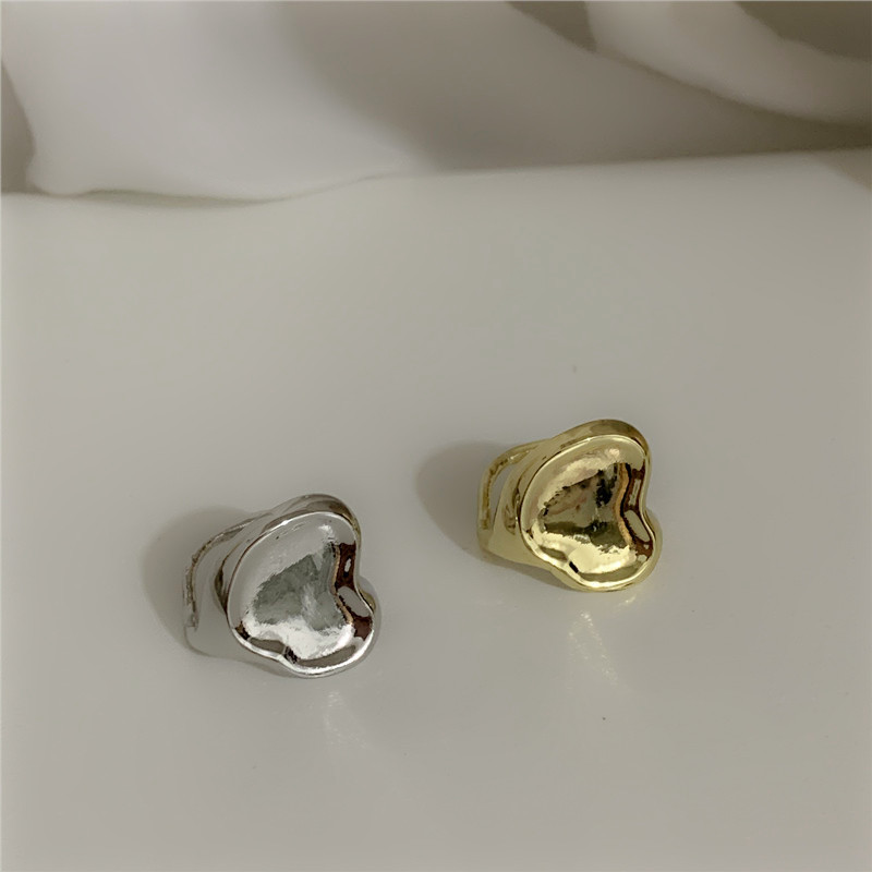 concave shaped ring fashionable metal texture open ring  NHYQ262568