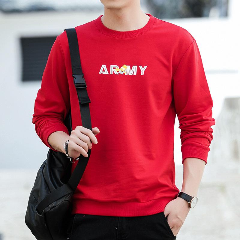 分销代理  潮男士韩版修身休闲棒球服卫衣打底长袖T恤衫男