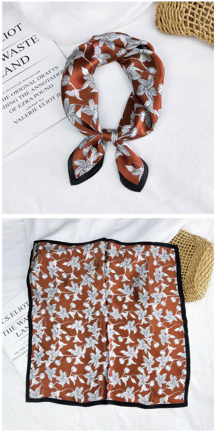 New spring thin wild mulberry decorative small silk square for women  NHMN246529