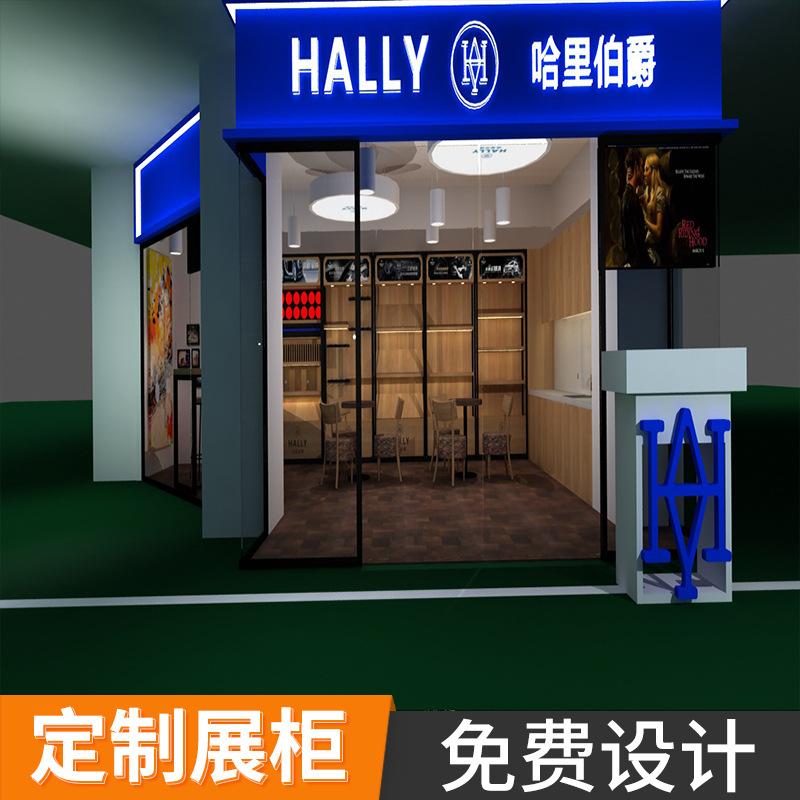 汽车精品展柜4S店汽车展示柜汽车展厅装修设计木制烤漆展柜