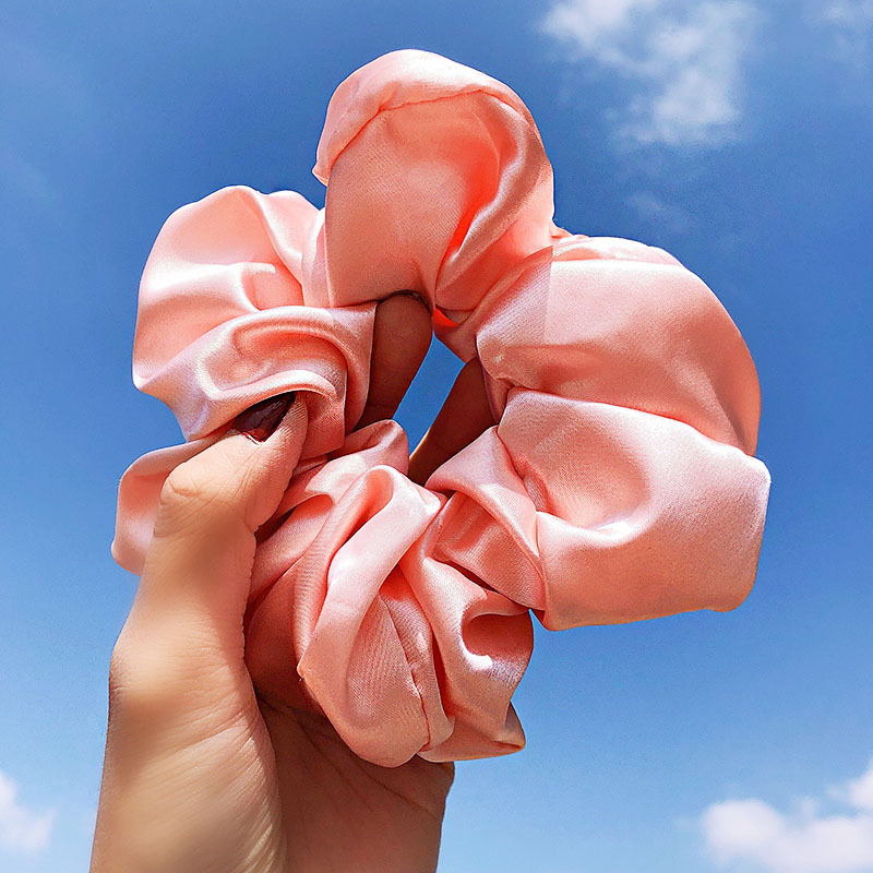 New solid color silk satin fashion simple cheap scrunchies wholesale NHNA212656