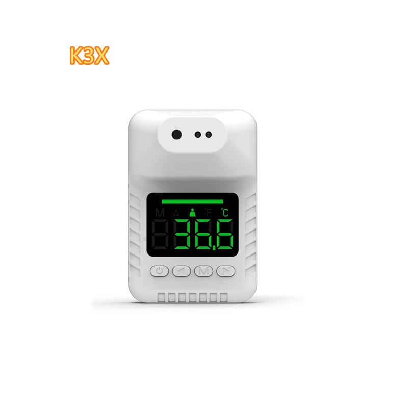 跨境迷你款语音播报K3X红外测温仪 免手持壁挂式固定智能测量仪