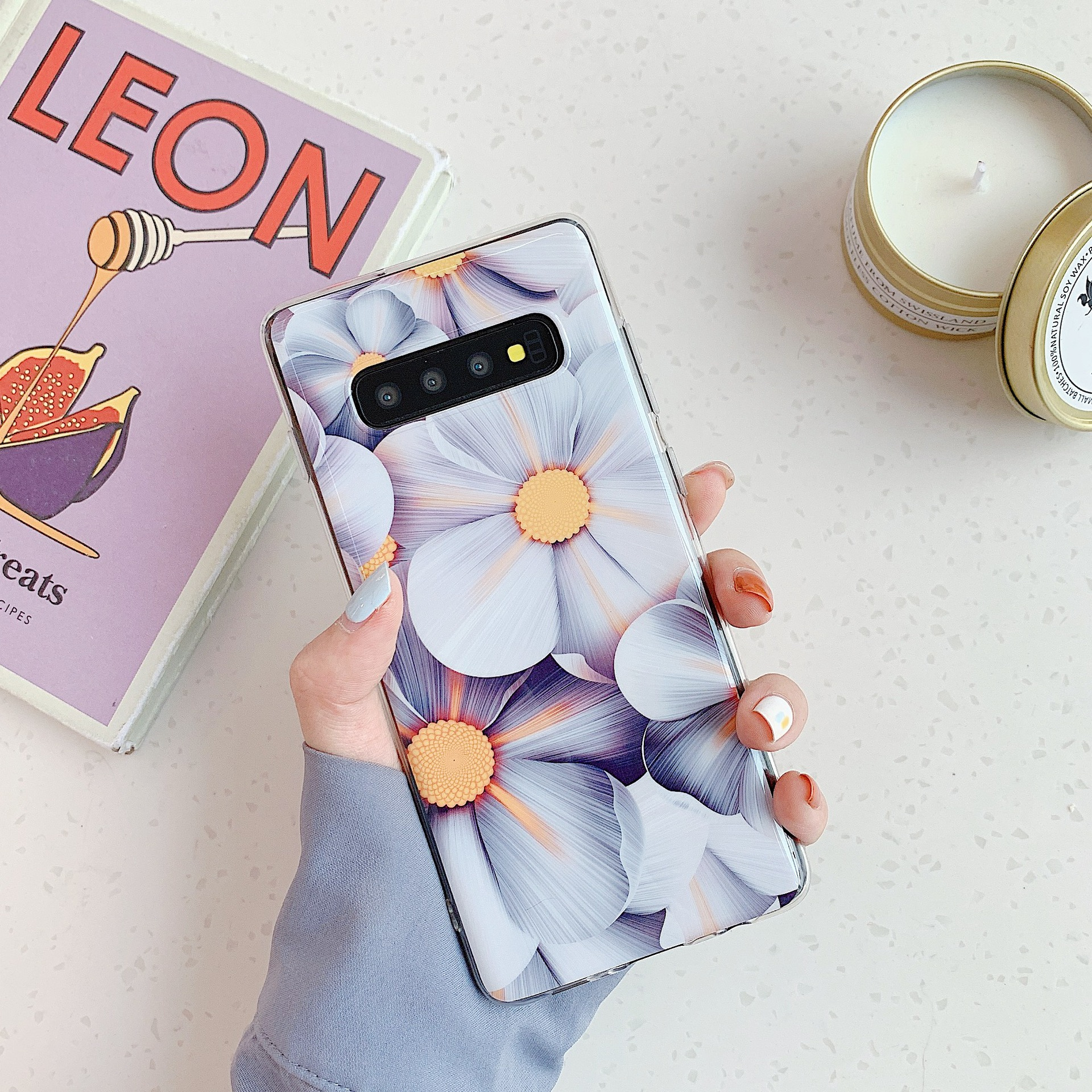 Small fresh flower banana leaf phone case for Samsung S20 S9plus all-inclusive Note10 s10e A70 phone case wholesale NHFI237427