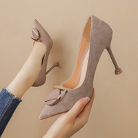 Han edition, 9333-013 fashion pointed mouth shallow high heels show thin suede sexy women's shoes for women's shoes with joker