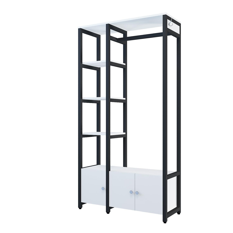 工厂供应开放式衣柜 卧室自由组合 置物架北欧简约落地架 可定制