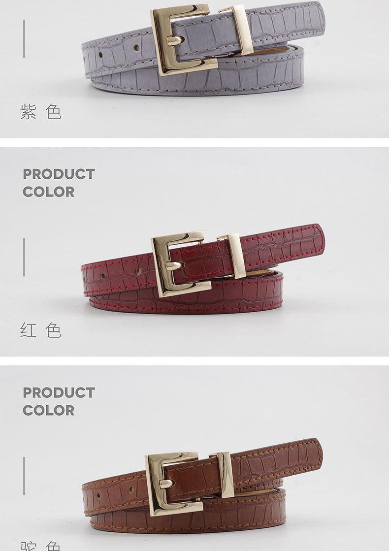 New stone pattern women's gold buckle belt wild casual pin buckle jeans belt women NHPO202144