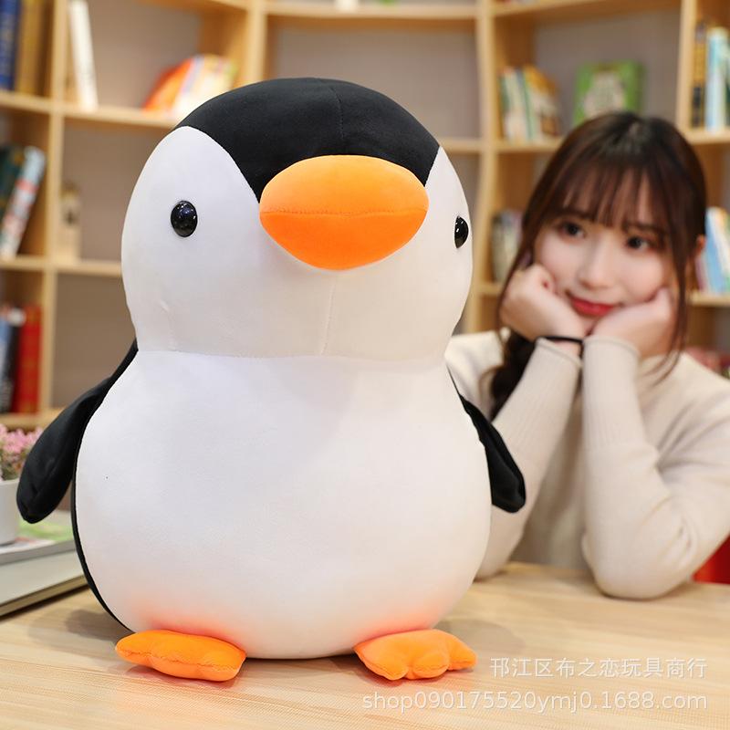 批发网红卡通企鹅玩偶公仔布娃娃海洋馆乐园毛绒玩具玩偶定制代发