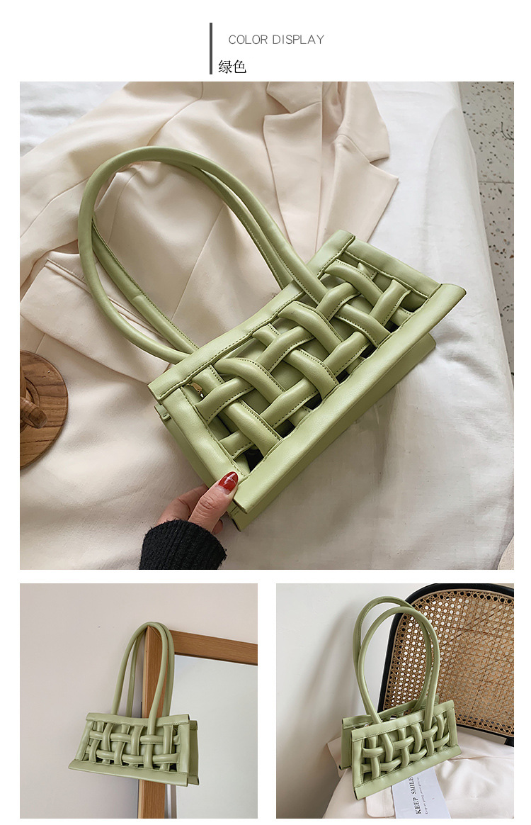 hollow woven shoulder handbag  NHJZ316393