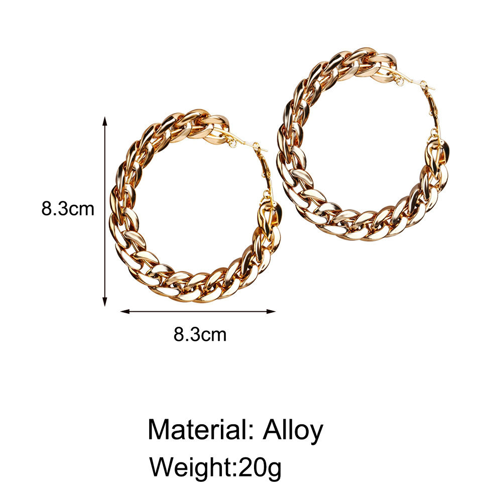 new big-name wind chain earrings creative retro simple exaggerated punk style earrings wholesale nihaojewelry NHYI220217