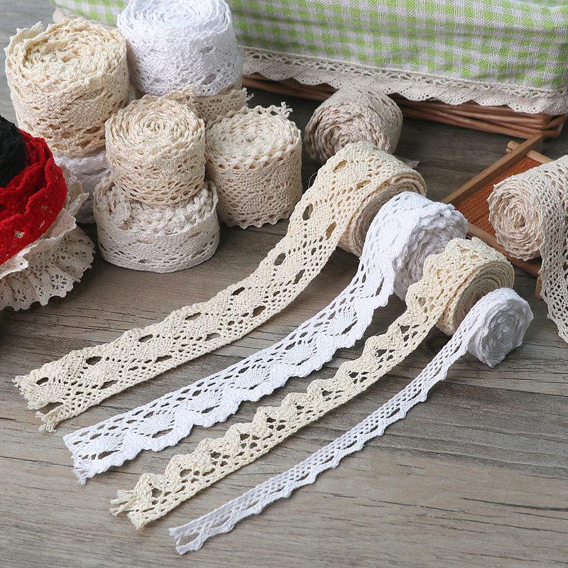 棉线蕾丝边带镂空花边蕾丝带边辅料装饰布艺衣服布料diy手工材料