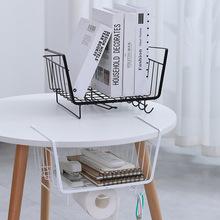 厨房橱柜隔板下挂篮衣柜收纳架储物架宿舍办公桌挂架置物架收纳筐