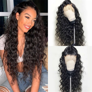 Wig women's black long curly hair corn hot small curly high temperature wig