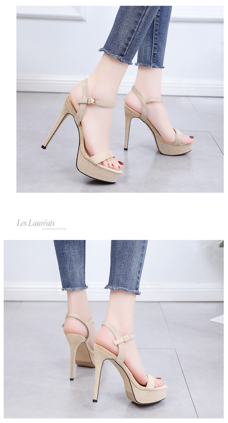 Summer new sexy high-heeled stiletto flat sandals women's shoes NHSO200280