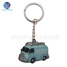 金色锌合金钥匙扣小汽车钥匙链仿珐琅电镀礼品卡通钥匙扣挂件