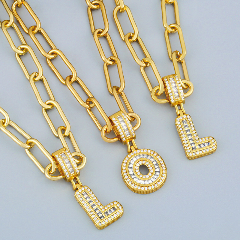Hot Selling 26 English Letter Pendants DIY Necklace NHAS267941