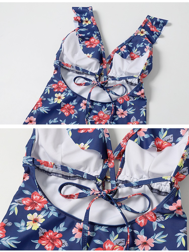 new fashion slim retro floral sexy backless onepiece swimsuit  NHHL271899
