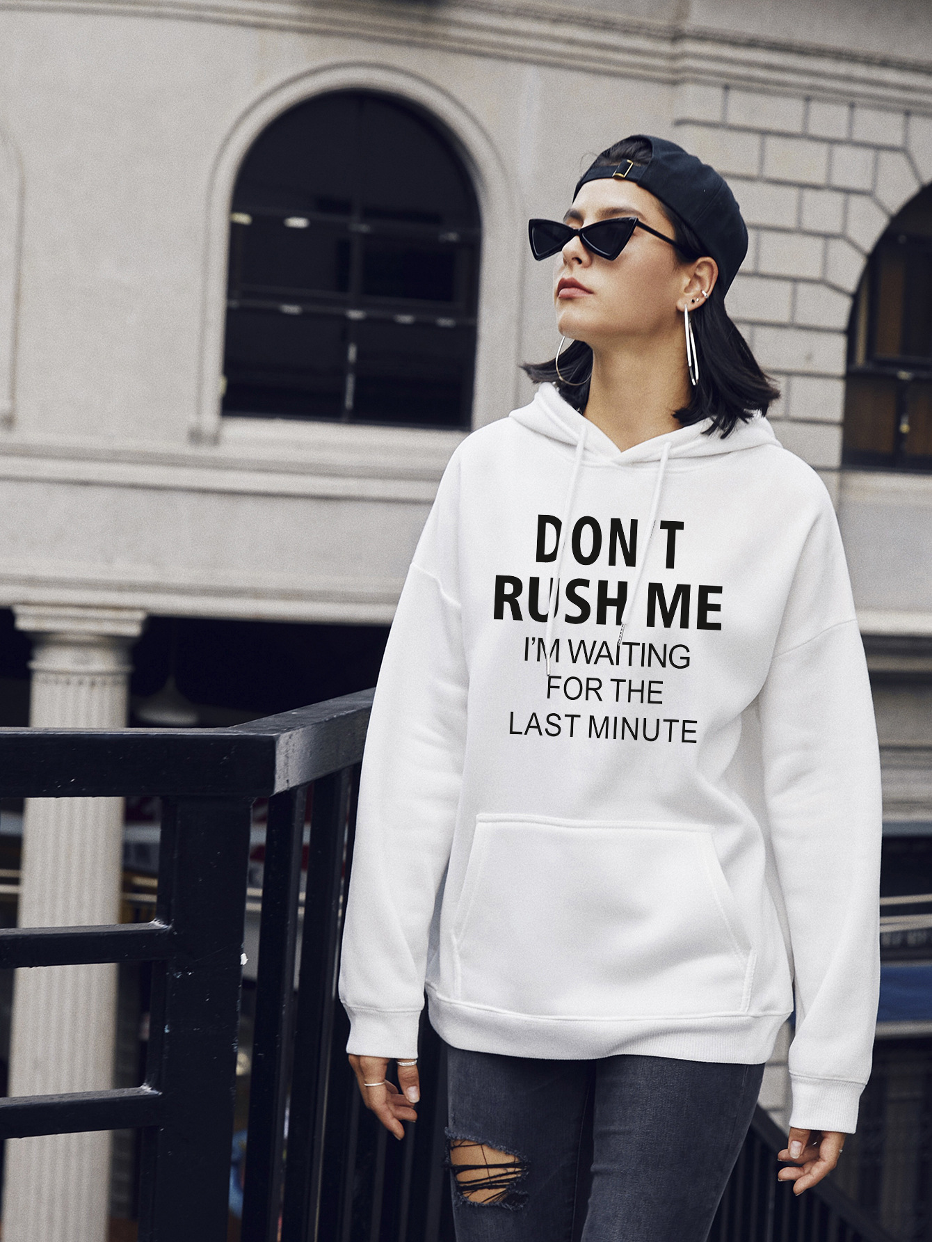 autumn and winter women's street casual hooded sweater hot letters NSSN1880