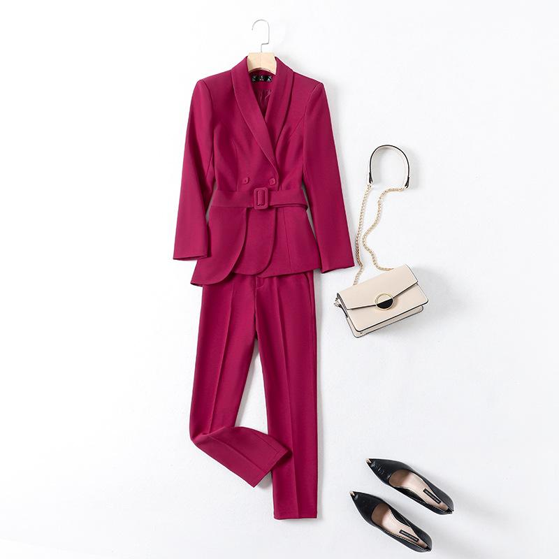 西裝套裝女2020秋時尚名媛小香風薄款氣質高端職業韓版西服兩件套