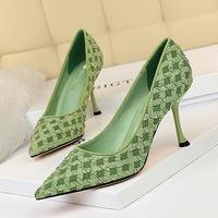 998-3 Korean fashion slim and sweet women's shoes with slim and sweet high heel and high heel cloth