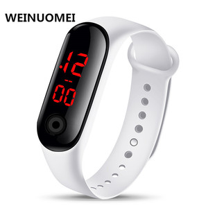 Stall Source M3 Button Screen LED Bracelet Electronic Watch Student Sports Leisure Silicone Gift Electronic Watch