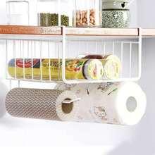 厨房用纸专用架纸巾吸油纸放免打孔卷筒置物架橱柜挂架懒人抹布保