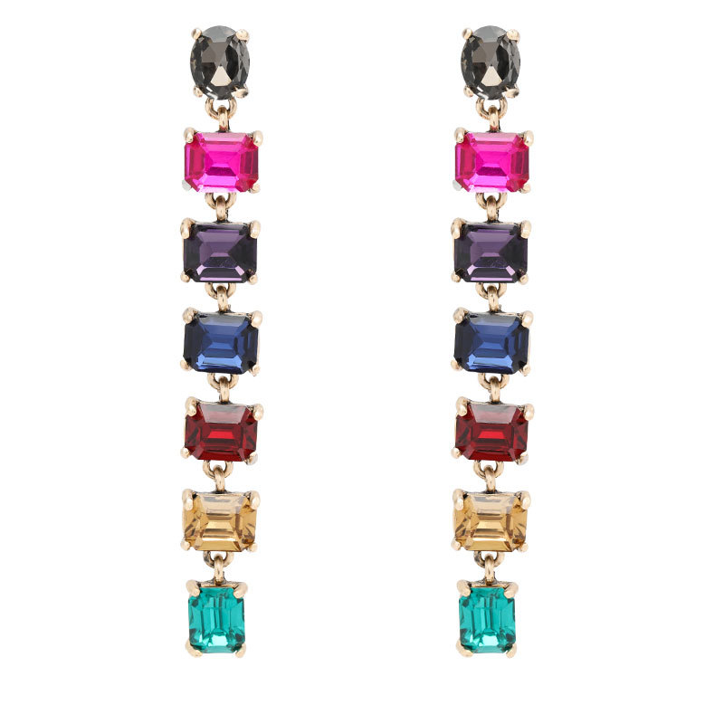 New style alloy earrings with diamonds and temperament earrings NHJE199083